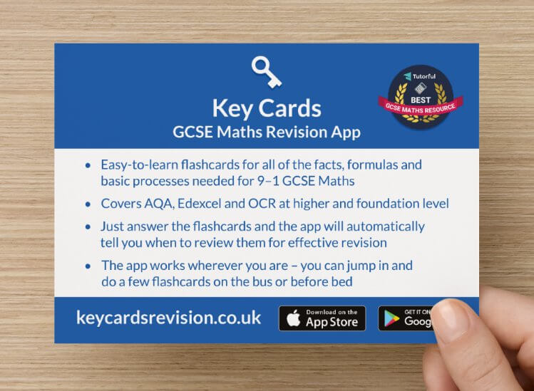 Key Cards GCSE Maths Revision App